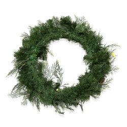 Ghirlanda natalizia rotonda con luci e decorazioni, , large