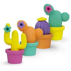 Set 4 gomme da cancellare modello cactus, , large