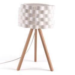 Lampada da tavolo in legno e carta, , large