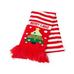 Sciarpa natalizia con luci LED, abete, , large