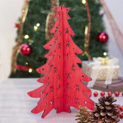 Albero di Natale in legno componibile 38 cm, , large