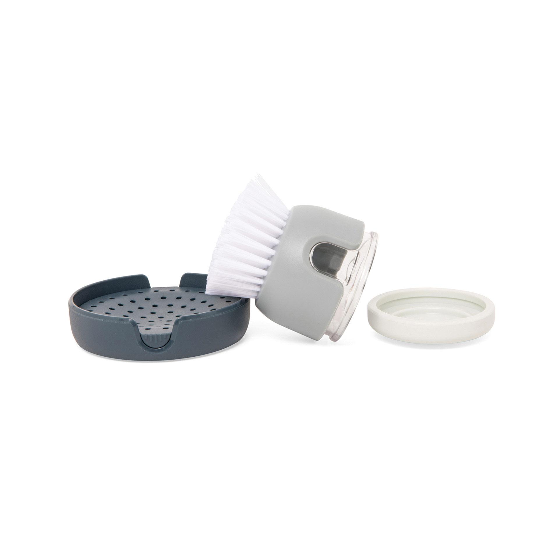 Brosse avec distributeur de savon intégré, , large