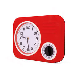 orologio retrò da cucina con timer, , large