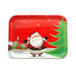 Vassoio di Natale in plastica 44 x 1,5 x 32,5 cm, , large