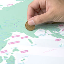 Mappa del mondo da grattare - Scratch Map Hello Edition, , large
