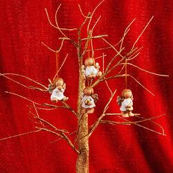 Set 4 angioletti per albero di Natale, , large