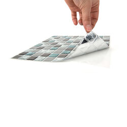 Piastrella adesiva effetto mosaico, , large
