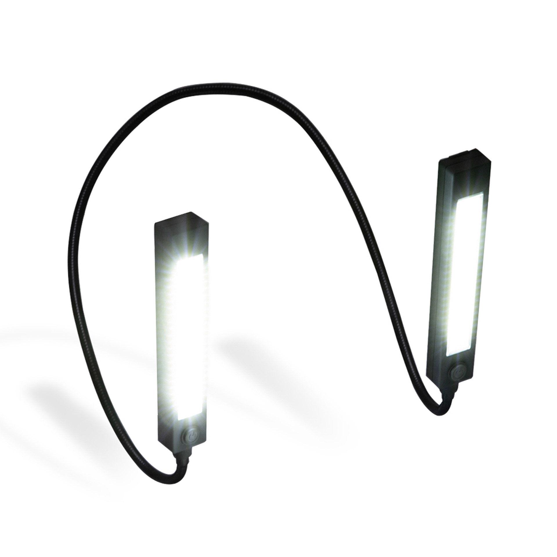Lampe de cou à 2 têtes avec LED COB 120 lumens, , large