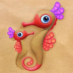 Formine per sabbia animali marini  - Cavalluccio marino, , large