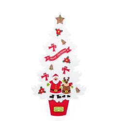 Albero di Natale  in feltro da appendere 92 cm - bianco, bianco, large