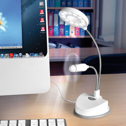 Lampada ventilatore con presa USB, , large