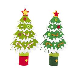 Mini abete natalizio in feltro - verde chiaro, verde chiaro, large