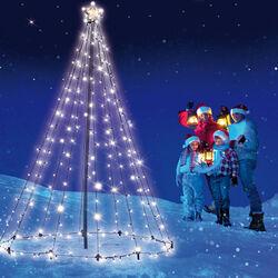Albero di Natale da esterno con 200 led, , large