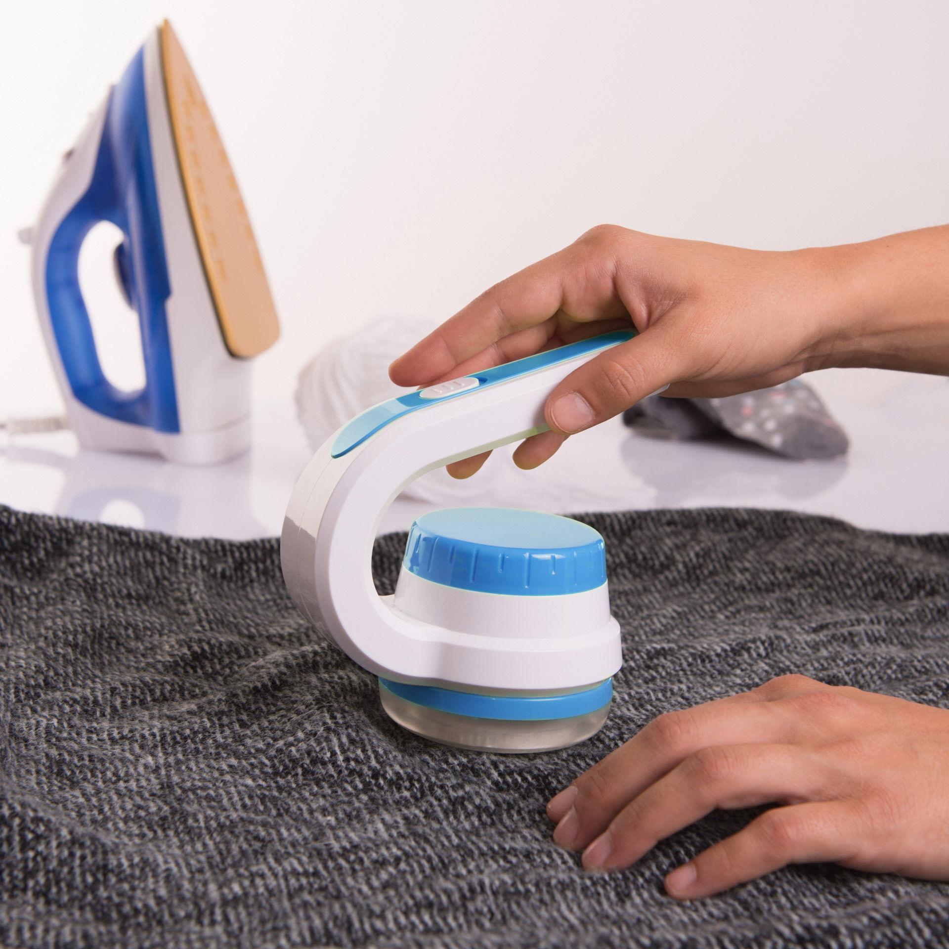 Brosse anti-peluches électrique à piles, , large