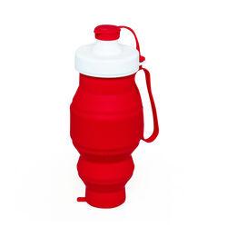 Bottiglia pieghevole in silicone 500 ml - colore rosso, rosso, large