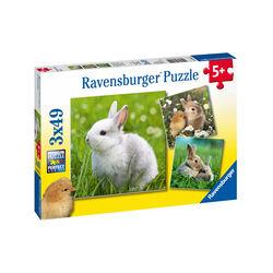Ravensburger Puzzle 3x49 pezzi 08041 - Teneri Coniglietti, , large