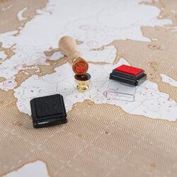 Mappa del mondo con timbro, , large
