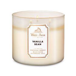 Vanilla Bean Candela profumata decorativa 3 stoppini con oli essenziali, , large