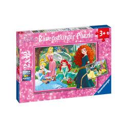 Ravensburger Puzzle 2x12 pezzi 07620 - Disney Princess, , large