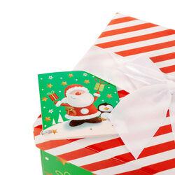 Scatola regalo Babbo Natale misura media, , large