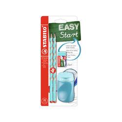 School Set STABILO EASYgraph S in Blu per Destrimani con Gomma + Temperino, , large