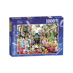Ravensburger Puzzle 1000 pezzi 19553 - Il treno di Natale Disney, , large