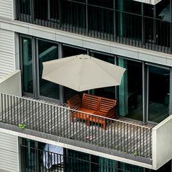 Ombrellone da balcone con base, , large