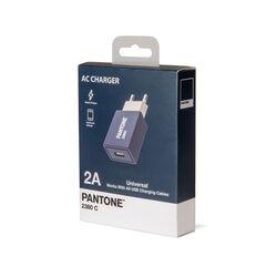 Caricabatterie USB da Rete 2.1A linea Pantone, blu, blu, large