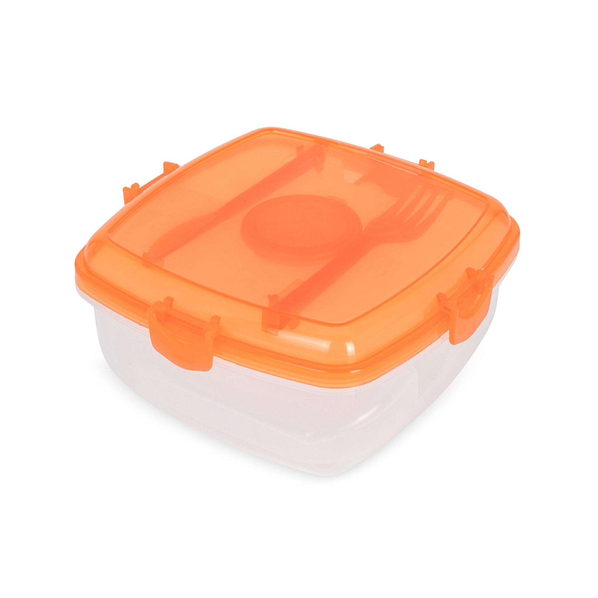 Lunch box pour micro ondes couleur orange, orange, large
