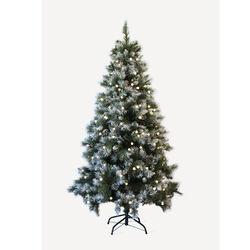 Albero di Natale effetto neve con luci, , large