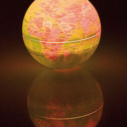 Mappamondo rotante luminoso, , large