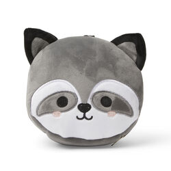 Cuscino da viaggio con maschera per dormire - Orsetto grigio, , large