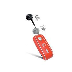 Auricolare Bluetooth con clip e cavo riavvolgibile, , large