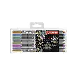 Pennarello Premium Metallizzato - STABILO Pen 68 metallic - Astuccio da 8 colori, , large