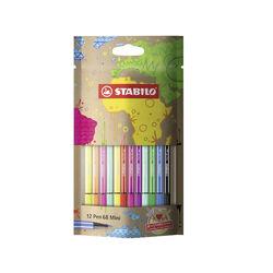 STABILO Pen 68 Mini - #mySTABILOdesign - Pack da 12 - con 12 colori assortiti, , large