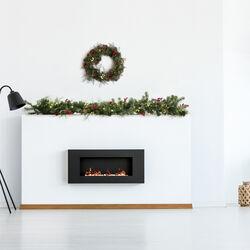 Ghirlanda natalizia modellabile con luci e decorazioni, , large