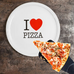 Piatto per pizza - I love pizza, , large