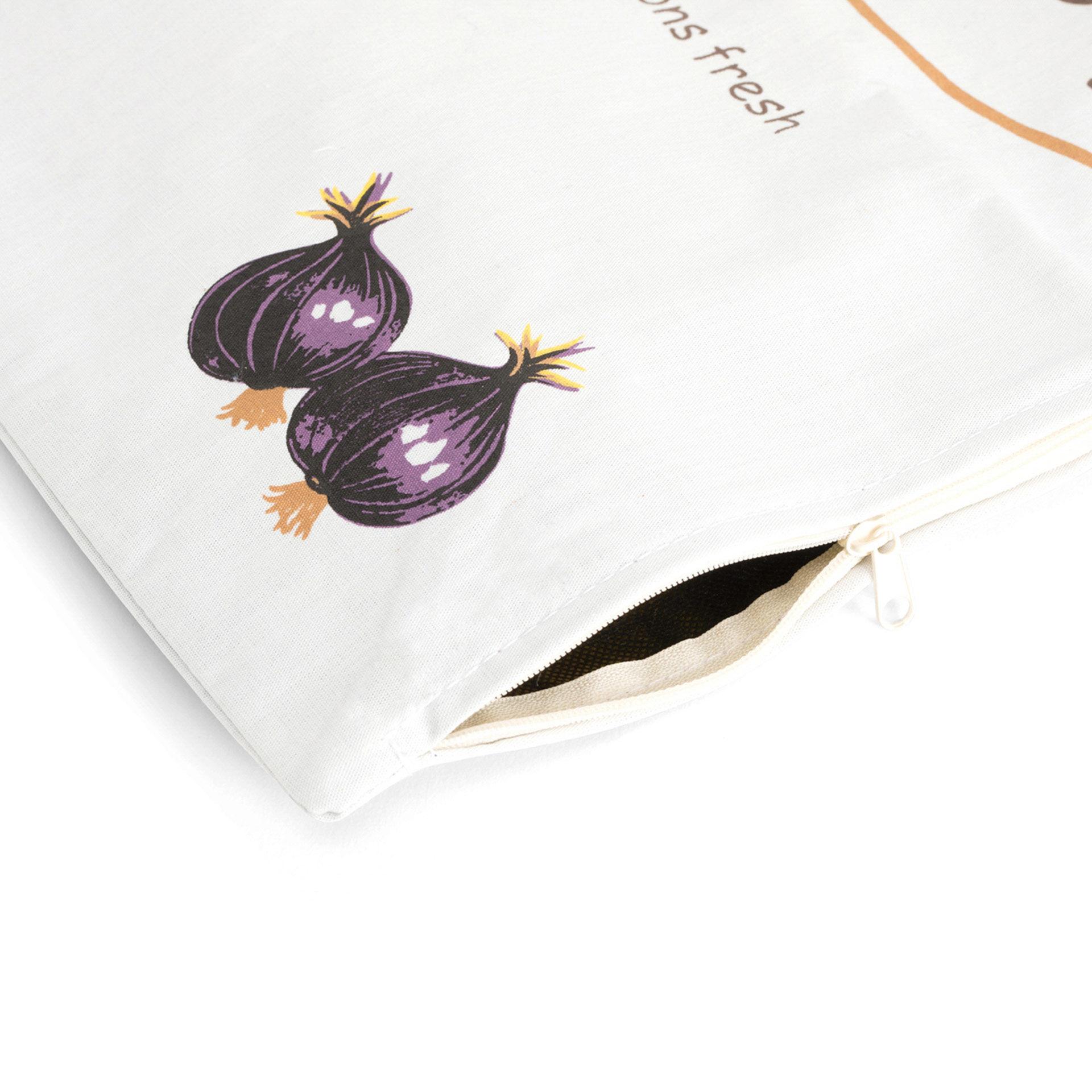 Lot de 3 sacs pour ail - pommes de terre - oignons, , large