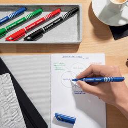 Penna punta fine STABILO sensor F astuccio 4 colori - nuovo, , large