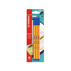 Fineliner - STABILO point 88 - Pack da 3 - Blu, , large