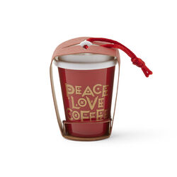 Ornament Peace Love Coffee, , large