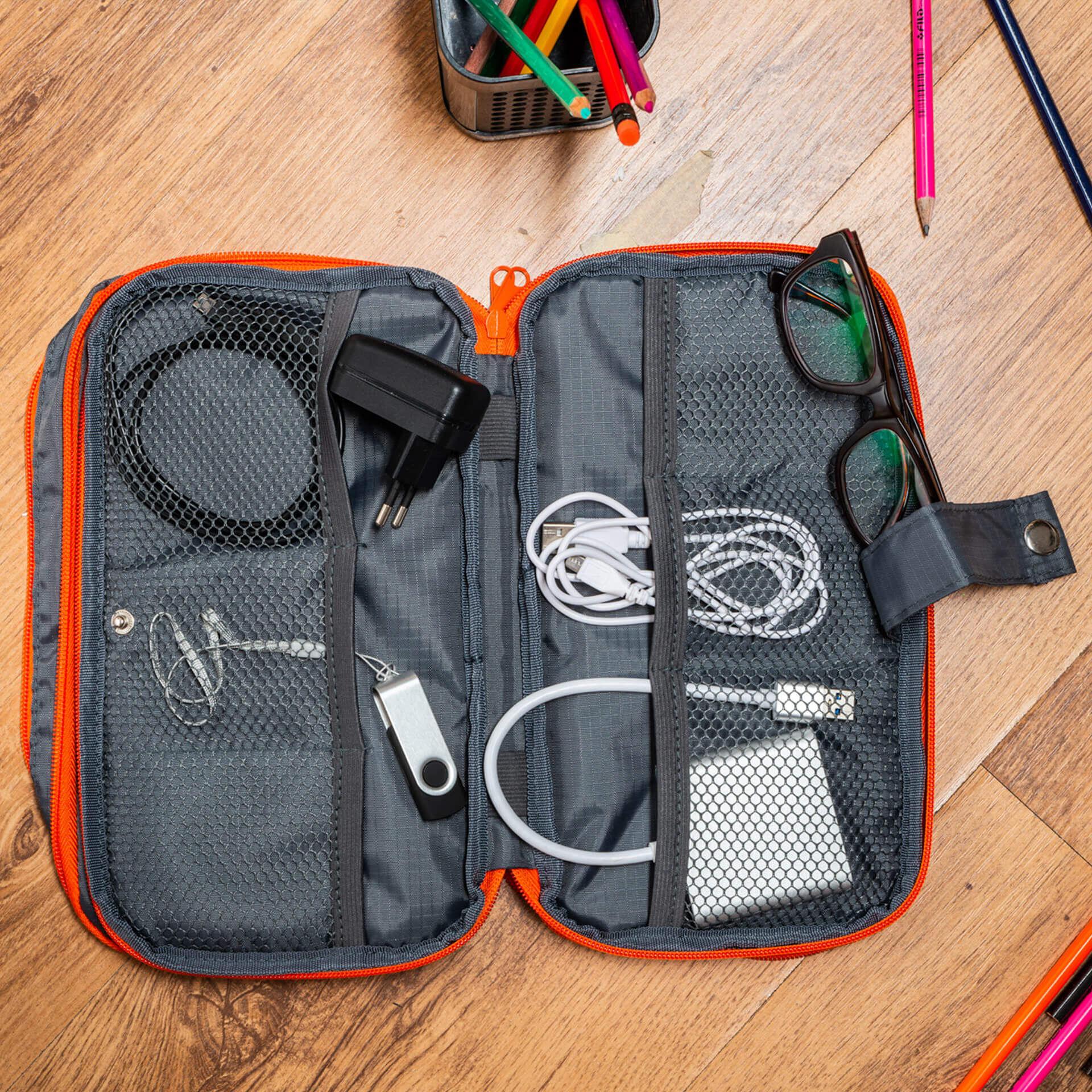 Organisateur de voyage pour câbles et accessoires technologiques, , large
