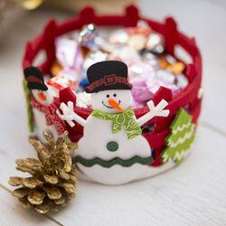 Cestino tondo natalizio, , large