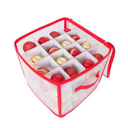 Contenitore per palline di natale dim. 30 x 30 x 30 cm, , large