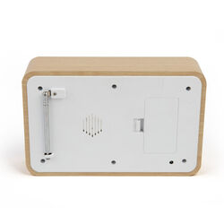 Radio digitale retrò con termometro - modello orizzontale, , large