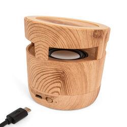 Speaker Bluetooth con caricabatteria wireless - colore legno, legno, large