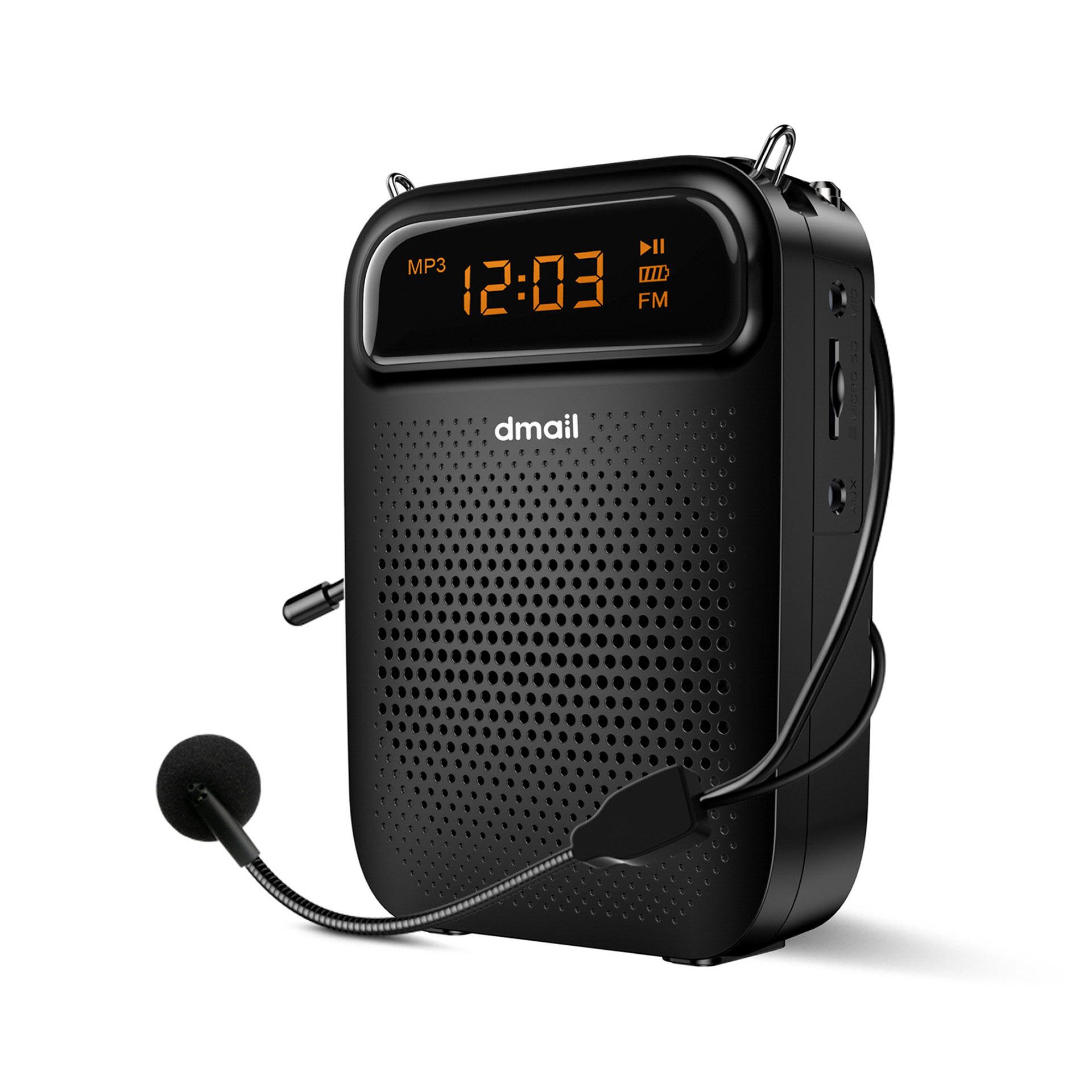 Amplificateur portable avec microphone - radio mp3, , large