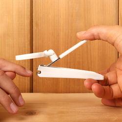 Tagliaunghie con lente di ingrandimento integrata, , large