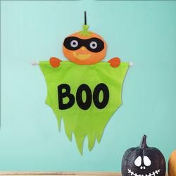 Decorazione Halloween da appendere - Zucca, , large