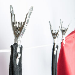 Mollette in acciaio inox set da 10 pz, , large